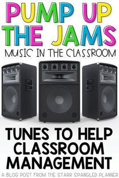 Looking for ways to incorporate music in the classroom? This post is full of great ideas for songs, playlists, and ways to integrate music into your daily teaching routines. Whether to help with classroom management and transitions, or just for fun, this has you covered!