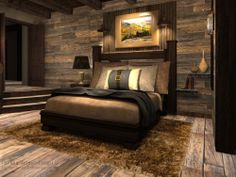 Gold mine option. 11.15.13. More rustic option. Full reclaimed wood wall. Darker colors. Less modern more authentic.
