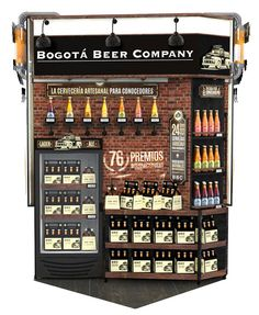 CULTURA CERVECERA on Behance Pop Display, Display Design, Store Design, Pos Design, Beer Shop, Industrial Design Furniture, Point Of Purchase, Tap Room, Store Displays