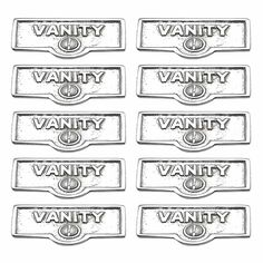 10 Switchplate Chrome Over Brass VANITY Switch Tag Chrome 1 11/16 in. W