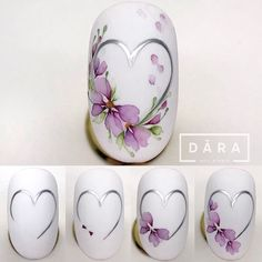 Nail Art Blog, Nail Art Hacks, Nail Art Diy, Cool Nail Art, Nail Art Designs Videos, Diy Nail Designs, Acrylic Nail Designs, Acrylic Nails, Purple Nail Art