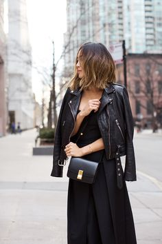 Black Strapless Jumpsuit and Lace Up Sandals in Chicago