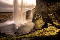 Behind Seljalandsfoss waterfall Photo by Cedric Favero -- National Geographic Your Shot
