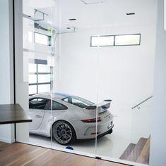 Glass Garage Wall In 2019 Garage Design Garage House Home Design Garage, House Design, Casa Bunker, Interior Architecture, Interior And Exterior, Interior Ideas, Casa Loft, Cool Garages, Garage Walls