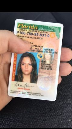 How To Get A Florida Drivers License >> 38 best Driver License Templates -photoshop file images on Pinterest in 2018 | Births, Driver's ...