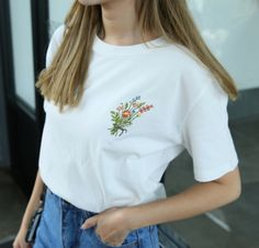 Little Flower Bouquet Embroidered Shirt (2 colors)