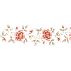 Border Stencils | Rose Border Stencil | Royal Design Studio