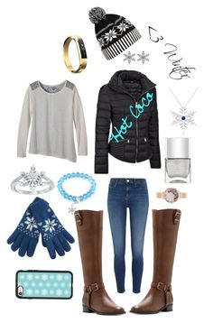 """""""Winter"""" by mlpcsgolife on Polyvore featuring River Island, WithChic, Allurez, Nails Inc., prAna, West Coast Jewelry, Olivia Burton, INC International Concepts, Disney and Casetify"""