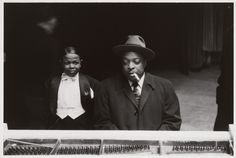 "Pee Wee Marquette and Count Basie. New York City  Lee Friedlander,1957. Gelatin silver print, 7 9/16 x 11 5/16"" (19.2 x 28.7 cm). Gift of the photographer. © 2012 Lee Friedlander"