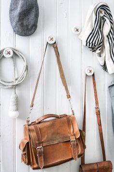 Parola Position: Flea Market Finds, nooks and buttons on a coat rack