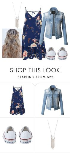 """""""Summer"""" by slothmonster ❤ liked on Polyvore featuring River Island, LE3NO, Converse and New Directions"""