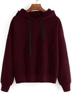 Shop Contrast Drawstring Drop Shoulder Hooded Sweatshirt online. SheIn offers Contrast Drawstring Drop Shoulder Hooded Sweatshirt & more to fit your fashionable needs.