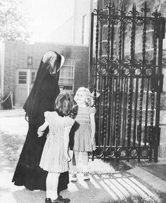 Unidentified RSCJ with children.