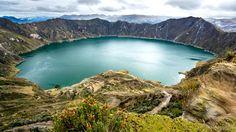 Guilotoa-vulkanen, Ecuador #vulcano #lake