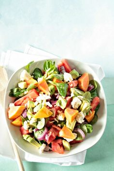Leckerer Papaya Salat mit vielen Vitaminen!