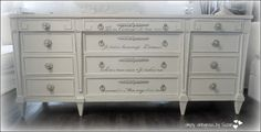 simply vintageous...by Suzan: AMERICAN OF MARTINSVILLE ( my French Romantic Dresser )