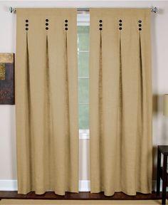 Cute buttons on pleated curtain - Macys