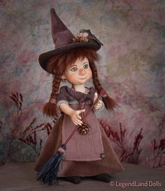 Witch doll/ decor witch/ figurine/ art doll/ fantasy doll/ handmade doll/    porcelain doll LIMITED EDITION US$71.13 plus shipping on Etsy.