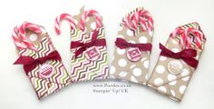 Stampin' Up! ADVENT COUNTDOWN 11 Envelope Punch Board Candy Cane Box | Stampin' Up! UK Demonstrator POOTLES!