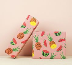Pineapple & Watermelons Gift Wrap, illustrated by Ruby Taylor.