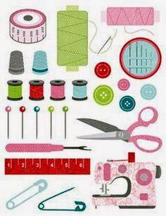Imágenes de costura que os pueden servir para forrar una caja de costura o una lata llena de hilos He elegido imágenes más modernas y otras...