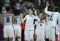 Community Of Support: Day 11 - USA's players celebrate after winning the women's quarter final basketball match USA vs Canada