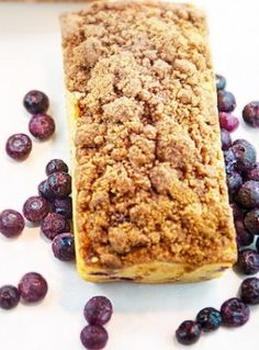 Blueberry Crumb Loaf