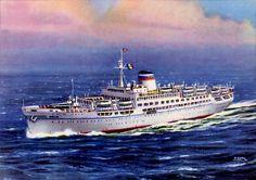 Cogedar Line Aurelia Ship Art, Sailing Ships, Past, Ocean, Past Tense, The Ocean, Sailboat, Sea, Tall Ships