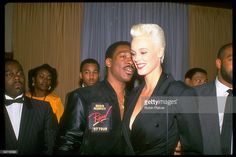 Actors Eddie Murphy and Brigitte Nielsen.