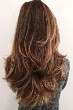 Stylish and Fun Long Layered Haircuts ★ See more: http://lovehairstyles.com/stylish-fun-long-layered-haircuts/