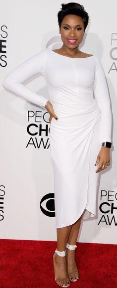 Jennifer Hudson's white-hot dress at People's Choice Awards 2014 red carpet