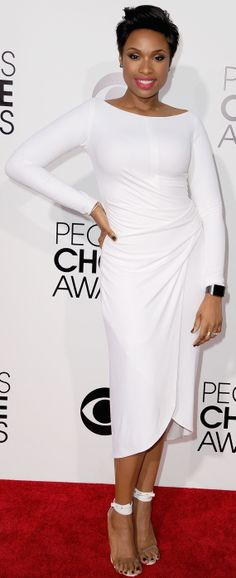 Jennifer Hudson's white-hot dress at People's Choice Awards 2014 red carpet