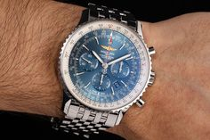 The popularity of the Navitimer among pilots is due to the fact that it is specifically designed to meet the needs of this target group. The large dial is easy to read and with the help of the integrated slide rule, flight data could be calculated even before on-board computers were developed. Breitling Navitimer, Breitling Watches, Slide Rule, Pilots, Best Sellers, Omega Watch, Computers, The Help, Target