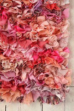 Pink shagpile rug!