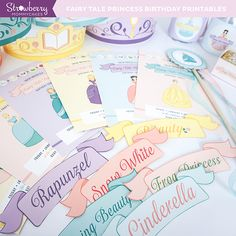 Items similar to DIY Fairy Tale Princess Party Printables on Etsy Princess Theme Party, Disney Princess Birthday, Cinderella Birthday, Fairytale Party, 4th Birthday Parties, Girl Birthday, Birthday Ideas, Diy Party, Party Ideas