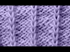 Cómo Tejer Punto Fácil -How to Knit Easy Stitches 2 Agujas (321) - YouTube