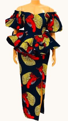 Best African Dresses, African Traditional Dresses, Latest African Fashion Dresses, African Print Fashion, African Attire, Ankara Peplum Tops, Ankara Skirt And Blouse, African Print Dress Designs