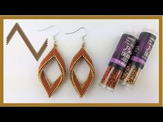 Beaded Earrings Patterns, Beaded Jewelry Designs, Earring Tutorial, Beading Techniques, Homemade Jewelry, Small Earrings, Bead Crafts, Bead Weaving, Bead Earrings