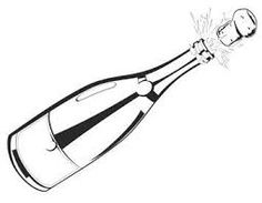 Image result for champagne bottle clipart