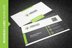Cool Green Business Card by Verazo on @creativemarket