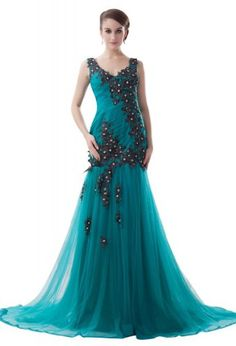 GEORGE BRIDE Mermaid Straps Appliques Tulle Evening Dress Size 2 Blue GEORGE BRIDE,http://www.amazon.com/dp/B00G908JT4/ref=cm_sw_r_pi_dp_upXXsb1RQFHNS97N