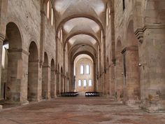 Kloster Eberbach - Basilika - Construction of the Romanesque basilica was 1140. After construction disruptions around 1160-1170 the consecration of the altar was in 1178