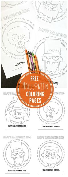 FREE Halloween Coloring Pages for the kids { lilluna.com }