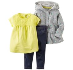 Carters-Girls-3-piece-Playwear-Set-Gray-Yellow-and-Blue-Flowers-and-Denim