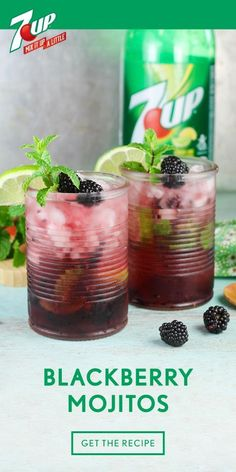 When it comes to summer cocktails, this Blackberry Mojito is practically ready for the porch swing or outdoor party! Fresh mint, blackberries, lime, rum, and 7UP® all help make this boozy beverage as refreshing as it is. Make a large batch of this fruity recipe so all your friends can enjoy this fizzy drink—and since you can pick up all the ingredients you need at Walmart, that just got a lot easier. #summercocktails