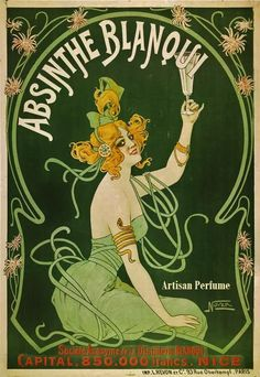 """Steampunk Inspired Solid Perfume """"Absinthe""""  Handcrafted Artisan Cologne. - love the artwork for this one."""