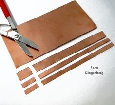 Trimming ends off Stacking Copper Bracelets - tutorial by Rena Klingenberg - Bracciali in rame