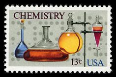 This Chemistry stamp, honoring American chemists, was issued in conjunction with the centenary of the American Chemical Society.