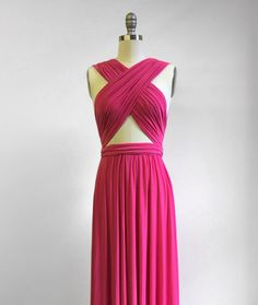 Hey, I found this really awesome Etsy listing at https://www.etsy.com/listing/229199497/hot-pink-infinity-dress-convertible