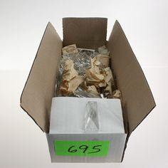 """Box of approx. 150 2-1/4"""" Leaded Coffin Stones, variety"""